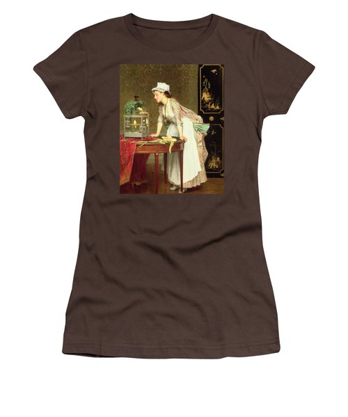 The Yellow Canaries Women's T-Shirt (Junior Cut) by Joseph Caraud