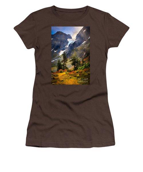 Top Of Cascade Pass Women's T-Shirt (Junior Cut) by Inge Johnsson