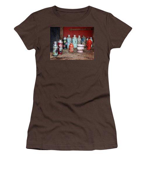 Yak Butter Thermoses Women's T-Shirt (Junior Cut) by Joan Carroll
