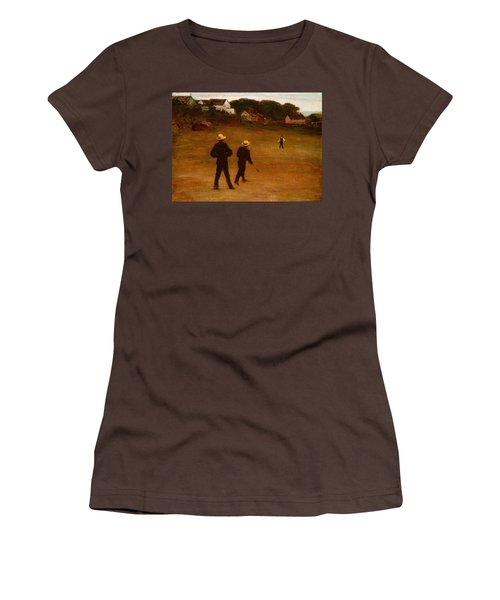 The Ball Players Women's T-Shirt (Junior Cut) by William Morris Hunt