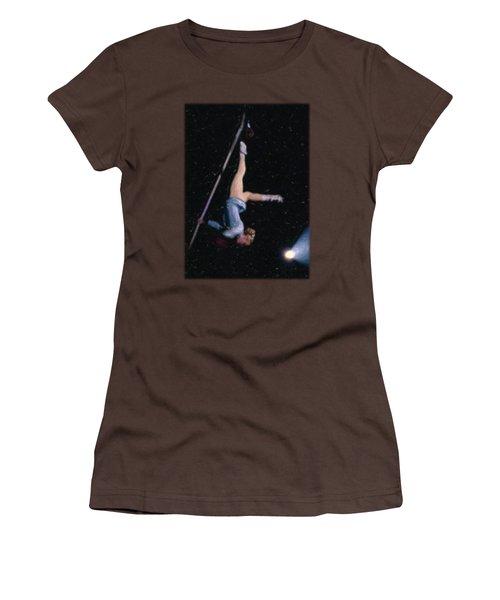 Aerial Acrobat Women's T-Shirt (Junior Cut) by Jon Delorme