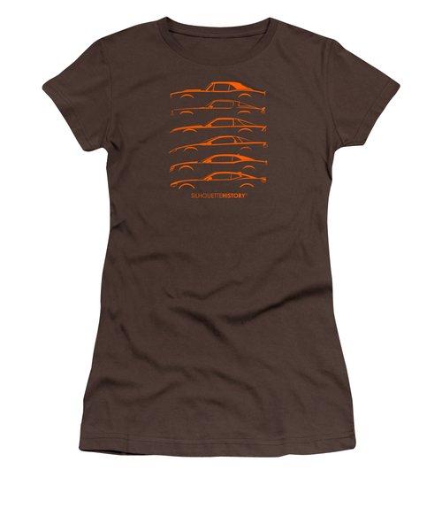 American Pony Silhouettehistory Women's T-Shirt (Junior Cut) by Gabor Vida