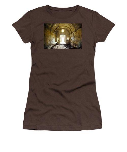 Church Ruin Women's T-Shirt (Junior Cut) by Carlos Caetano
