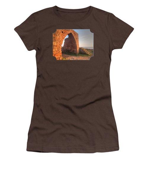 Evening Light On Grosnez Castle Ruins Jersey Women's T-Shirt (Junior Cut) by Gill Billington