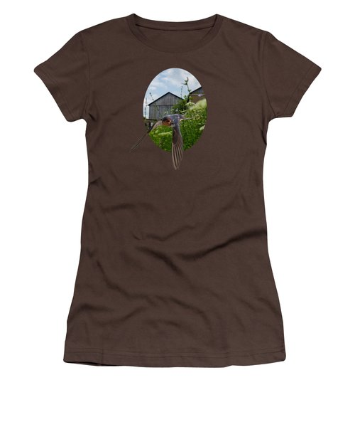 Flying Through The Farm Women's T-Shirt (Junior Cut) by Jan M Holden