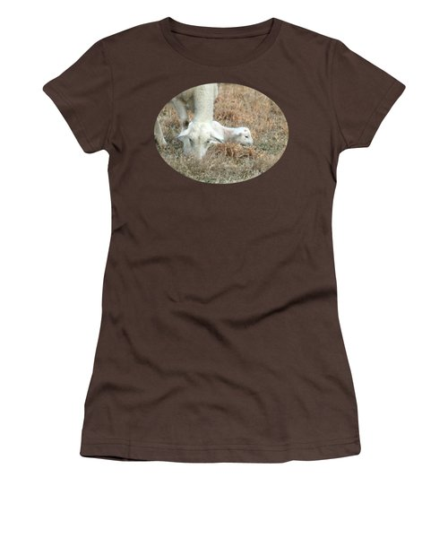L Is For Lamb Women's T-Shirt (Junior Cut) by Anita Faye