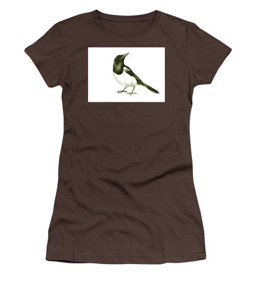 Magpie Women's T-Shirt (Junior Cut) by Suren Nersisyan