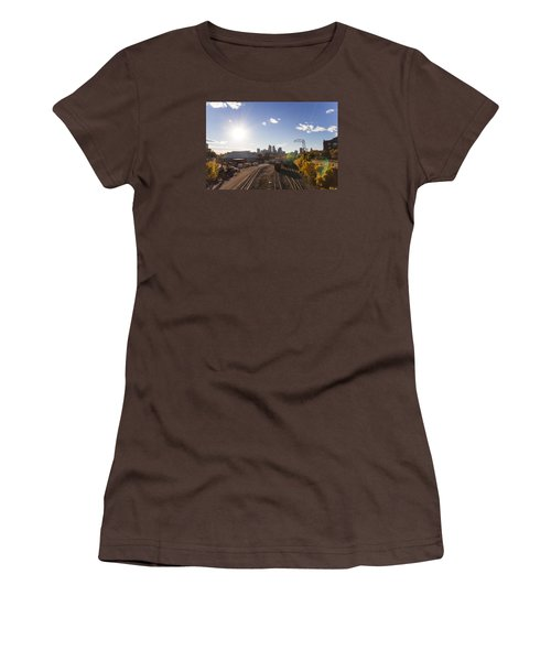 Minneapolis In The Fall Women's T-Shirt (Junior Cut) by Zach Sumners