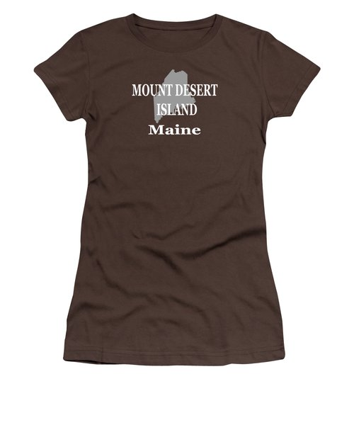 Mount Desert Island Maine State City And Town Pride  Women's T-Shirt (Junior Cut) by Keith Webber Jr