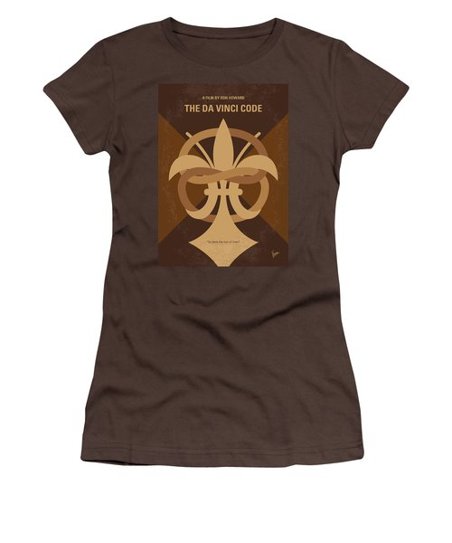 No548 My Da Vinci Code Minimal Movie Poster Women's T-Shirt (Junior Cut) by Chungkong Art