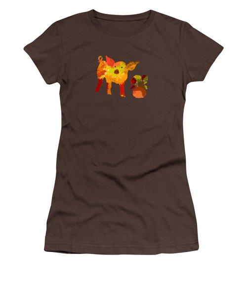 Pretty Pig Women's T-Shirt (Junior Cut) by Holly McGee