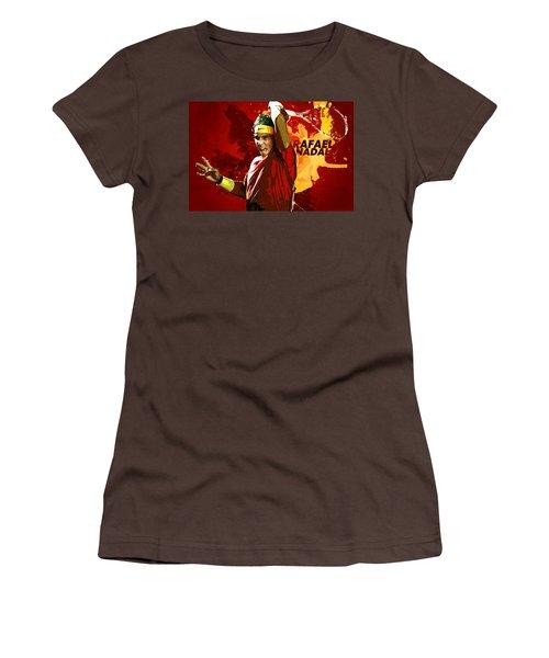 Rafael Nadal Women's T-Shirt (Junior Cut) by Semih Yurdabak