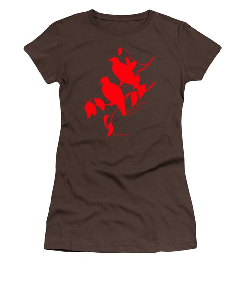 Red Doves Women's T-Shirt (Junior Cut) by The one eyed Raven