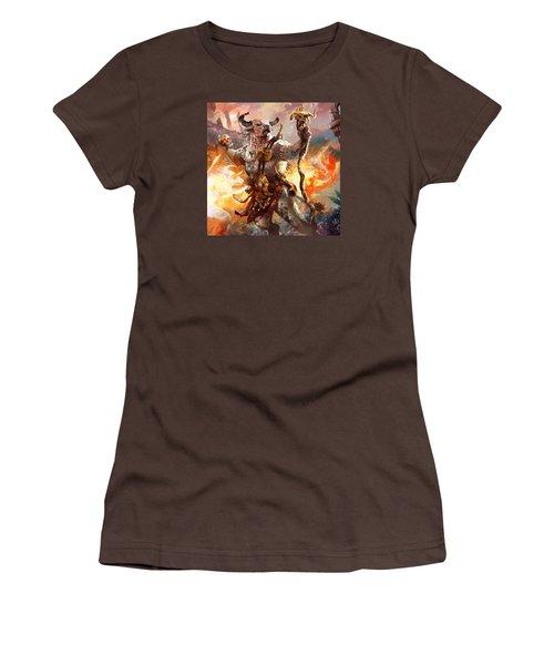 Spiritcaller Shaman Women's T-Shirt (Junior Cut) by Ryan Barger