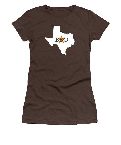 Texas Bbq Women's T-Shirt (Junior Cut) by Nancy Ingersoll