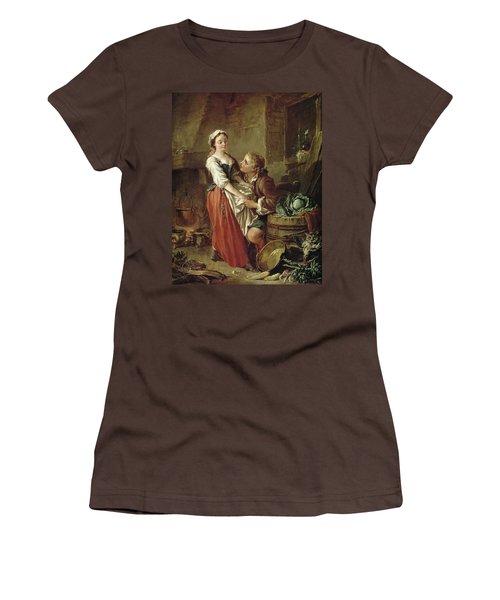 The Beautiful Kitchen Maid Women's T-Shirt (Junior Cut) by Francois Boucher