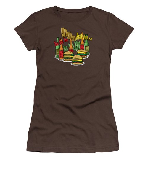 The Big Lebowski  Some Burgers Some Beers And A Few Laughs  In And Out Burger Jeff Lebowski Women's T-Shirt (Junior Cut) by Paul Telling