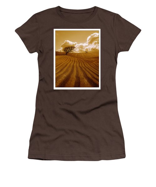 The Ploughed Field Women's T-Shirt (Junior Cut) by Mal Bray
