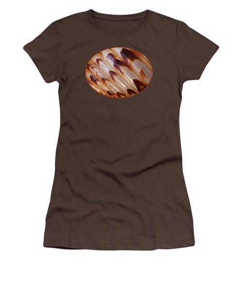Triton Seashell Abstract Women's T-Shirt (Junior Cut) by Gill Billington