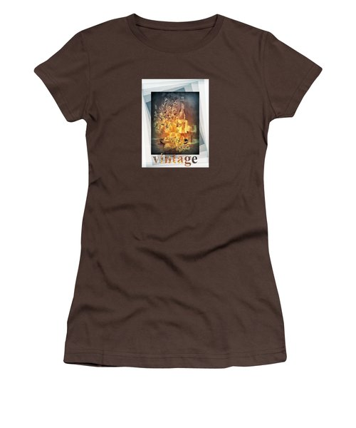 Vintage Wine Women's T-Shirt (Junior Cut) by Valerie Anne Kelly