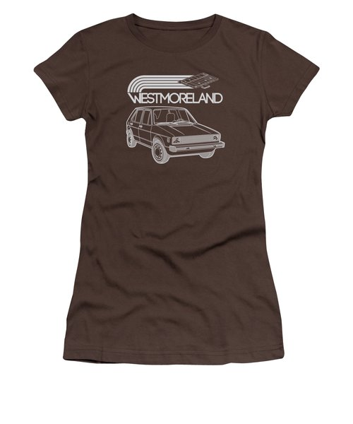 Vw Rabbit - Westmoreland Theme - Gray Women's T-Shirt (Junior Cut) by Ed Jackson