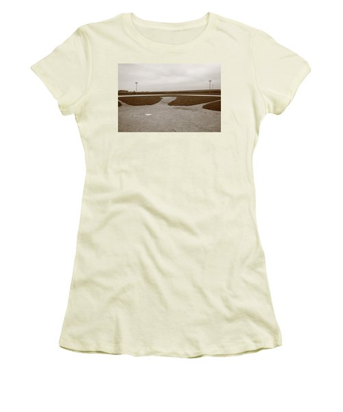 Baseball Women's T-Shirt (Junior Cut) by Frank Romeo