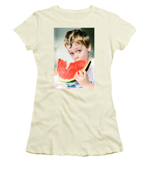 A Slice Of Life Women's T-Shirt (Junior Cut) by Marco Oliveira