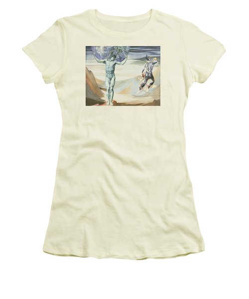 Atlas Turned To Stone, C.1876 Women's T-Shirt (Junior Cut) by Sir Edward Coley Burne-Jones