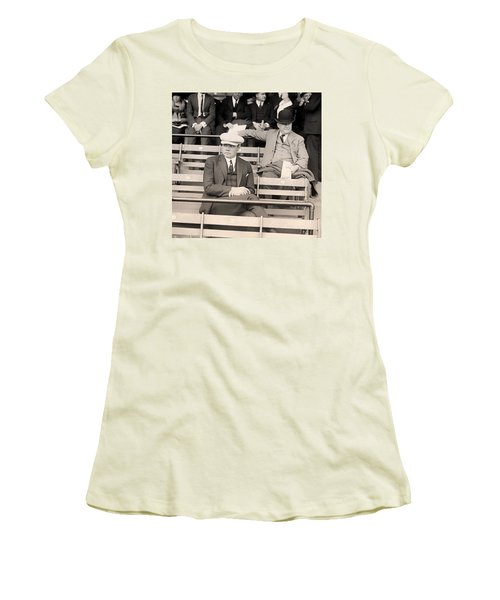 Babe Ruth In The Stands At Griffith Stadium 1922 Women's T-Shirt (Junior Cut) by Mountain Dreams
