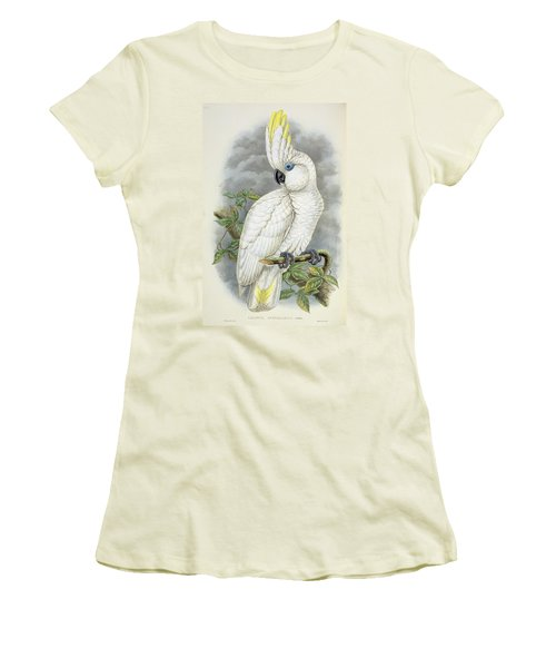 Blue-eyed Cockatoo Women's T-Shirt (Junior Cut) by William Hart