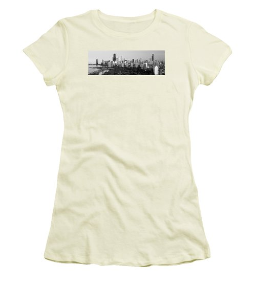 Buildings In A City, View Of Hancock Women's T-Shirt (Junior Cut) by Panoramic Images