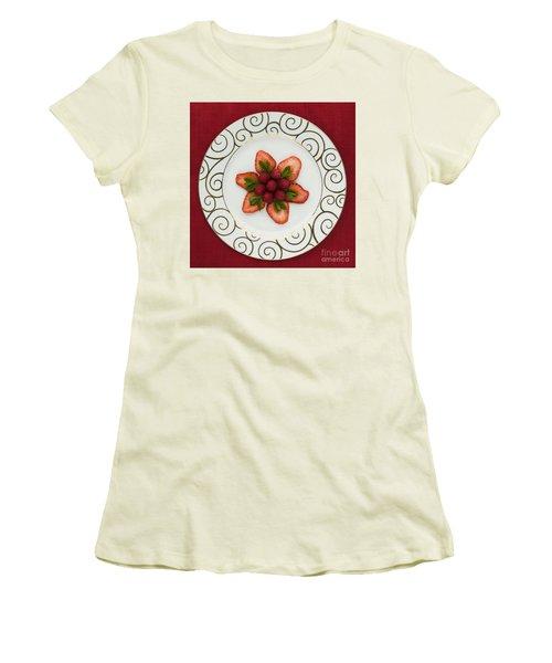 Flowering Fruits Women's T-Shirt (Junior Cut) by Anne Gilbert