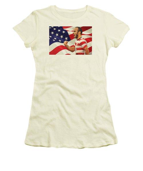 Landon Donovan Women's T-Shirt (Junior Cut) by Taylan Apukovska