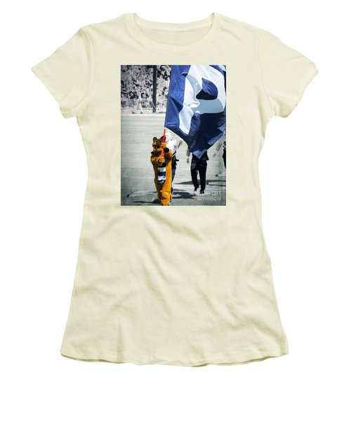Lion Leading The Team Women's T-Shirt (Junior Cut) by Dawn Gari