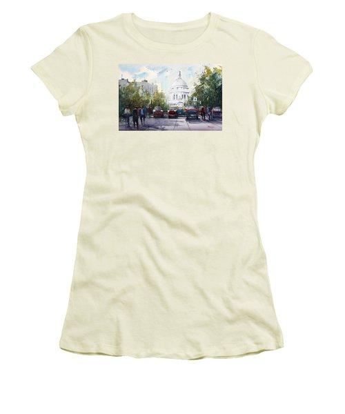 Madison - Capitol Women's T-Shirt (Junior Cut) by Ryan Radke