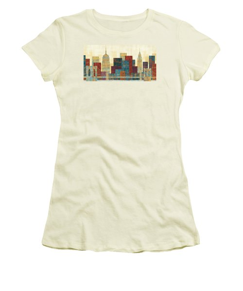Majestic City Women's T-Shirt (Junior Cut) by Michael Mullan