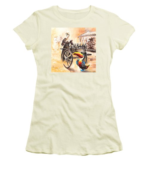 Molly Malone Women's T-Shirt (Junior Cut) by Miki De Goodaboom
