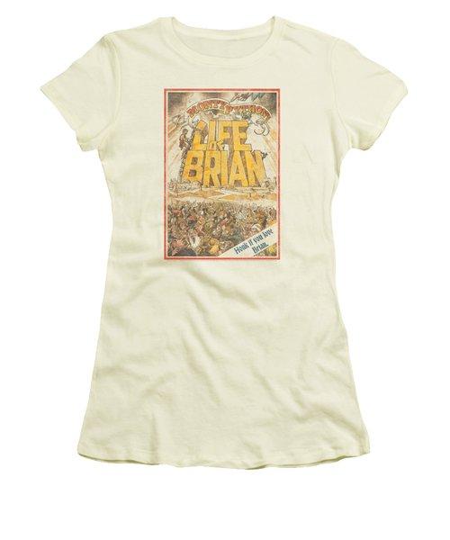Monty Python - Brian Poster Women's T-Shirt (Junior Cut) by Brand A
