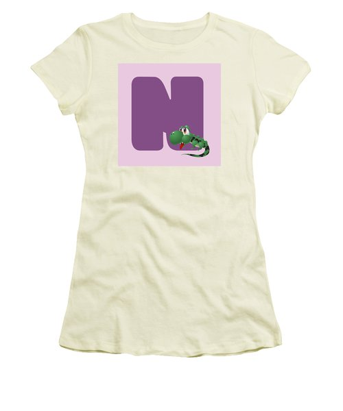 N Women's T-Shirt (Junior Cut) by Gina Dsgn