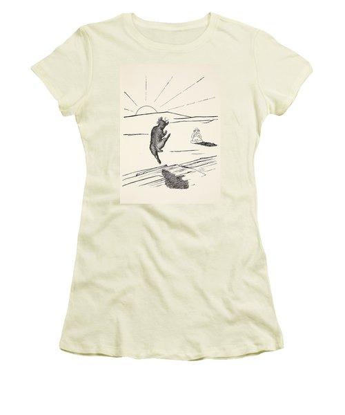 Old Man Kangaroo Women's T-Shirt (Junior Cut) by Rudyard Kipling
