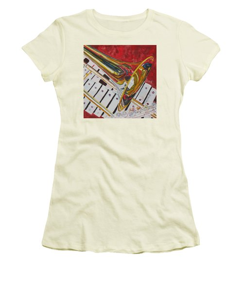Ringing In The Brass Women's T-Shirt (Junior Cut) by Jenny Armitage