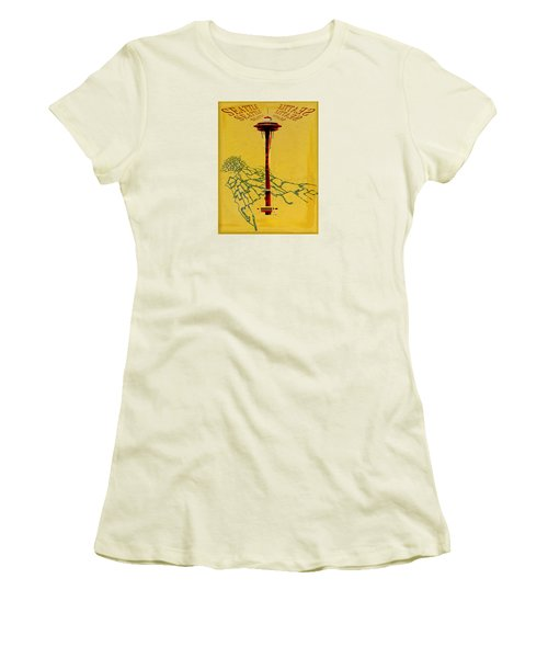 Seattle Calling Women's T-Shirt (Junior Cut) by Sandstone Inc