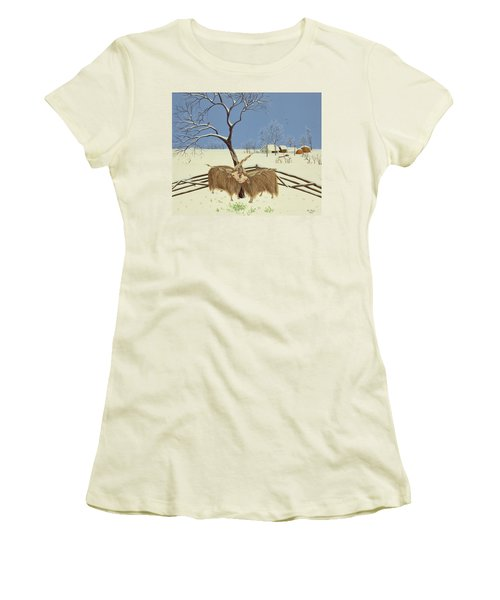 Spring In Winter Women's T-Shirt (Junior Cut) by Magdolna Ban