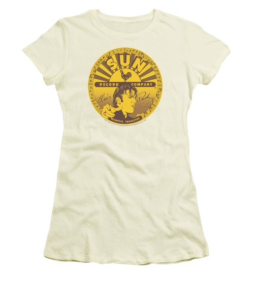 Sun - Elvis Full Sun Label Women's T-Shirt (Junior Cut) by Brand A
