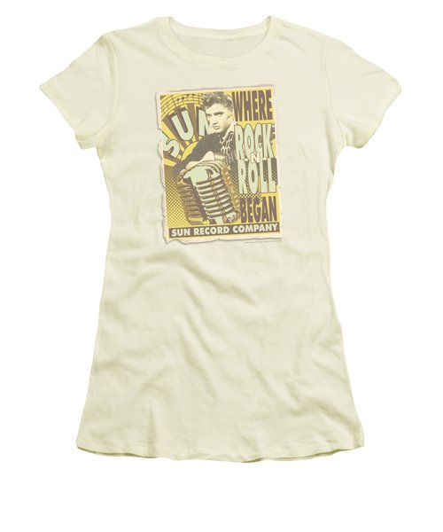 Sun - Rock N Roll Began Poster Women's T-Shirt (Junior Cut) by Brand A