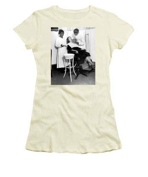 The North Harlem Dental Clinic Women's T-Shirt (Junior Cut) by Underwood Archives