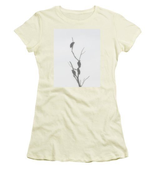 Their Waiting Four Black Vultures In Dead Tree Women's T-Shirt (Junior Cut) by Chris Flees