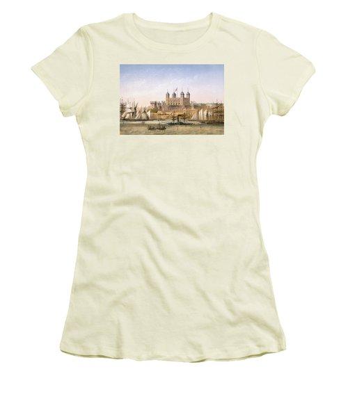 Tower Of London, 1862 Women's T-Shirt (Junior Cut) by Achille-Louis Martinet