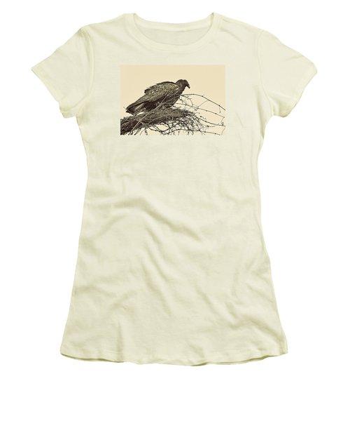 Turkey Vulture V2 Women's T-Shirt (Junior Cut) by Douglas Barnard