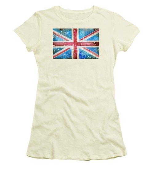 Union Jack Women's T-Shirt (Junior Cut) by Sean Parnell